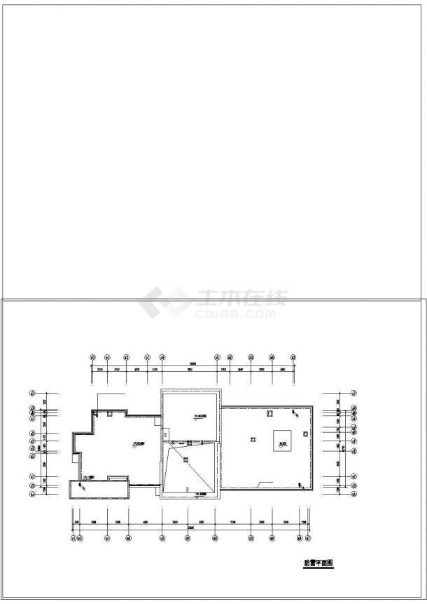 某高层住宅楼电气全套cad设计施工图纸-图二