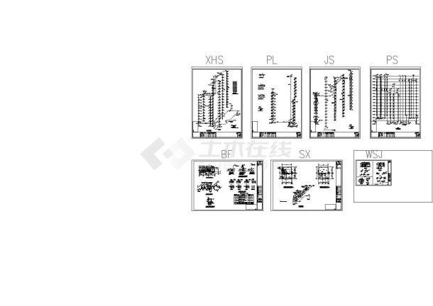 办公楼设计_湖北某地高层办公楼给排水设计cad施工图-图一