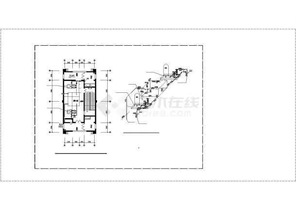 办公楼设计_河南某二十四层高层办公楼给排水详细设计cad施工图-图一