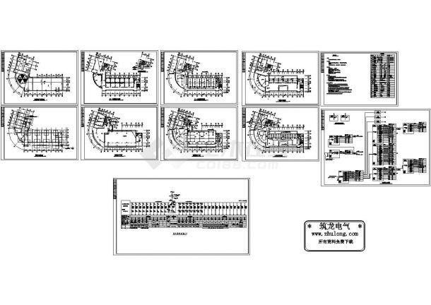 某六层办公楼电气施工图(CAD,11张图纸)-图一