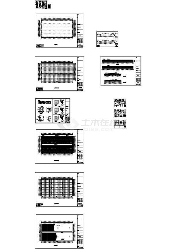 山西某木业公司钢结构厂房设计CAD-图一