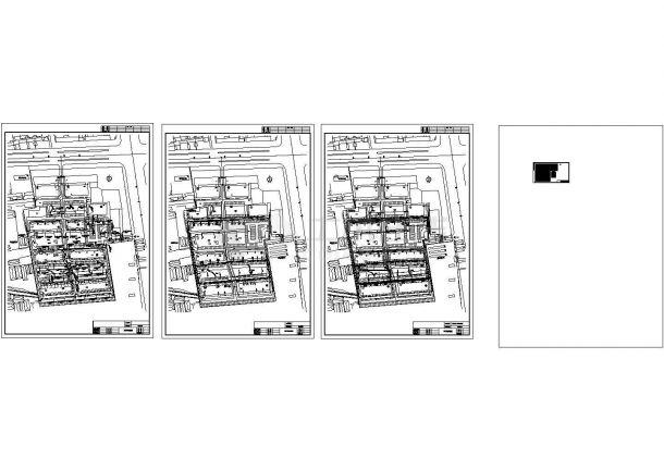 某小区外网给排水消防综合管道设计CAD图纸设计-图一