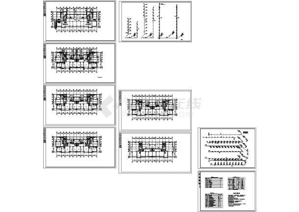 某十一层住宅给排水设计CAD全套图纸设计-图一