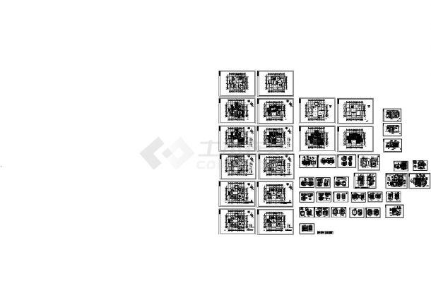 上海浦西地区某2层欧式别墅装修设计CAD施工图-图二