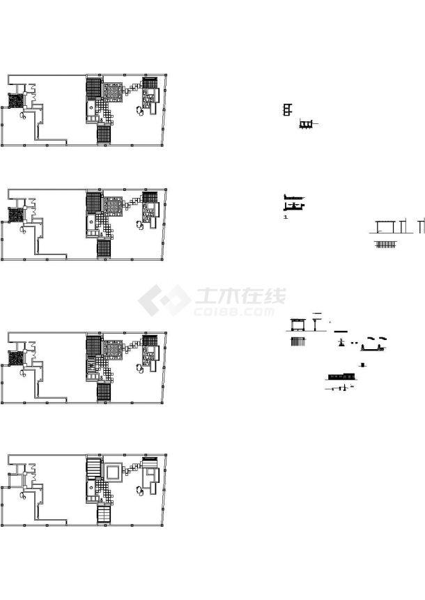 专业别墅庭院绿化设计 施工图-图一