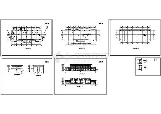 某餐厅建筑设计方案图纸-图一