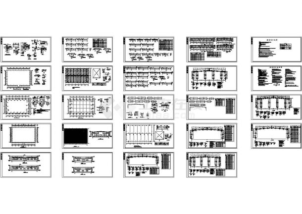 轻型钢结构门式刚架独立混凝土基础厂房结施CAD全图-图一