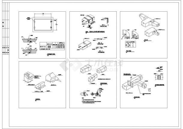 全套风管、风口、管件、阀门等暖通安装节点CAD施工图(甲级院设计)-图二