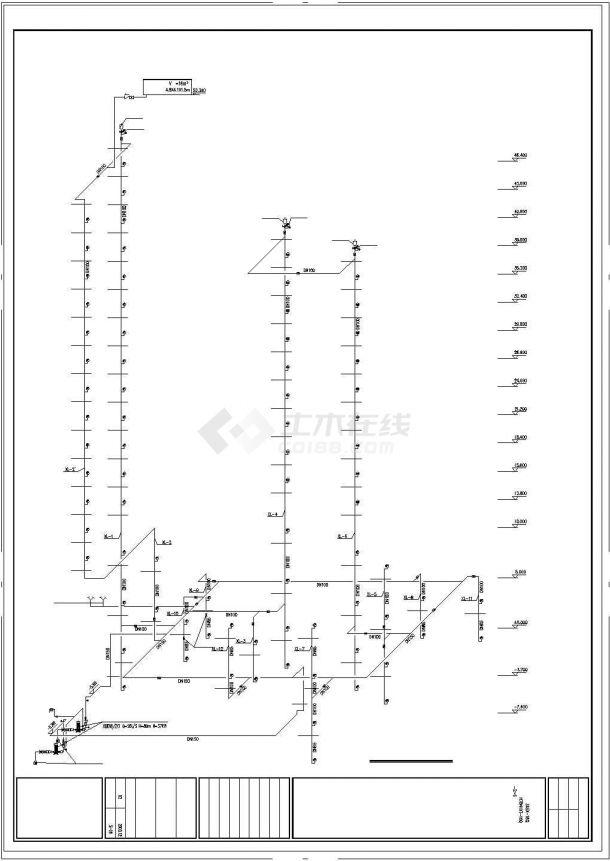 某规划院高层住宅给排水设计施工cad图纸-图二