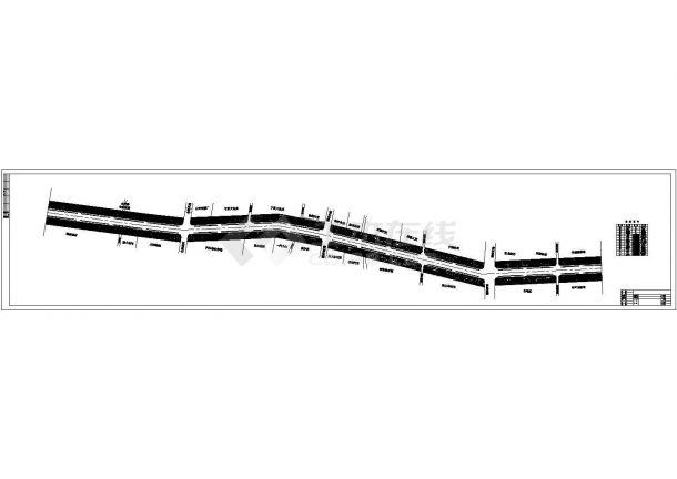 北宁市109线道路绿化景观设计cad图纸,共一份资料-图一