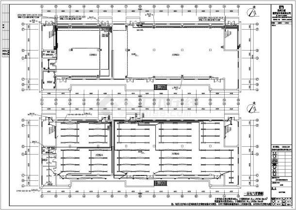 廊坊办公楼电气CAD电气设计完整图-图二