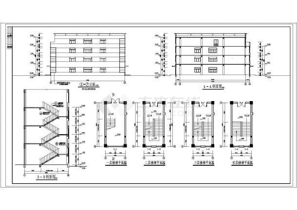 某地多层五金厂房建筑施工图纸-图一