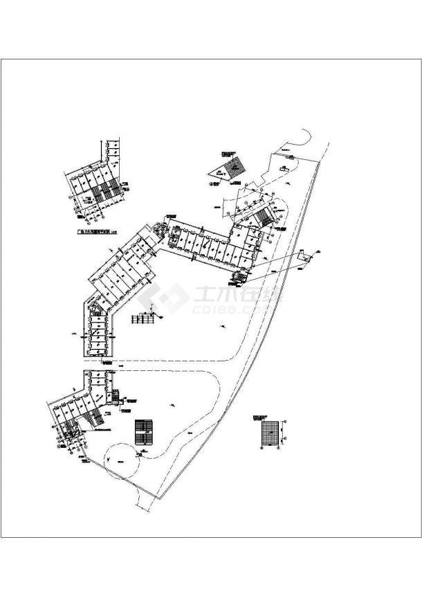 [重庆]地下商场通风空调及防排烟系统设计施工设计cad图-图一