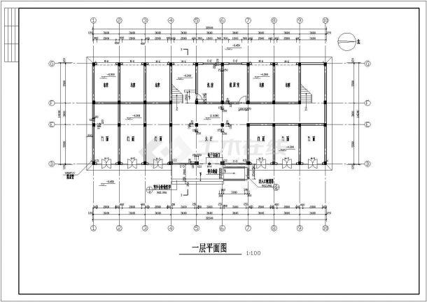 办公楼设计_某四层办公楼框架结构设计图纸-图二