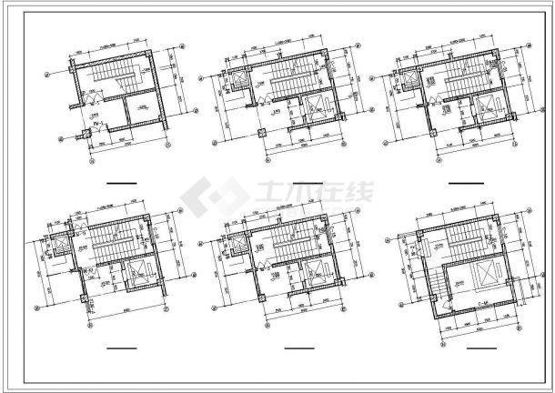 旅馆建筑设计平面图_某酒店旅馆cad建筑施工设计图纸 - 资料下载 - 土木在线