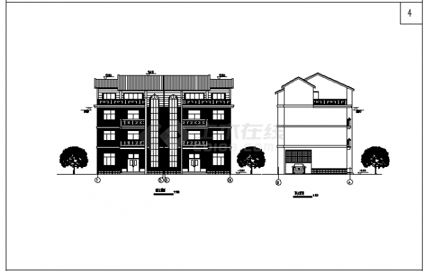 三套多层带坡顶新农村单家独院式别墅建筑设计图资料合集(带效果图)-图二