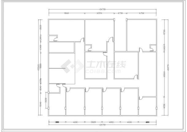 某私人会所室内精装修平面设计cad施工图-图一
