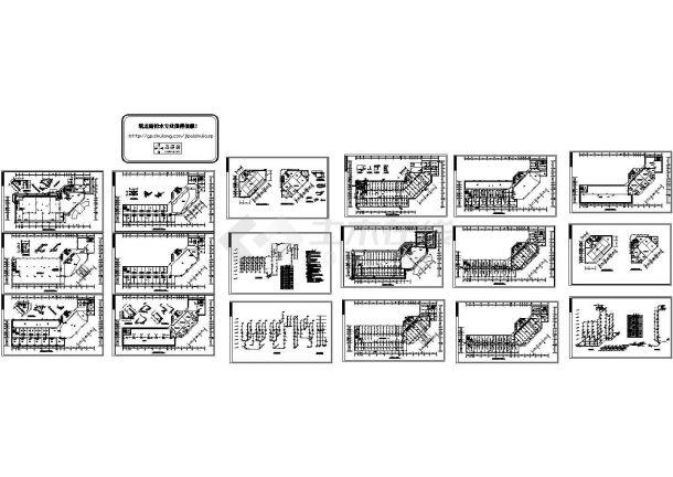 某综合楼给排水及消防系统cad图纸-图一