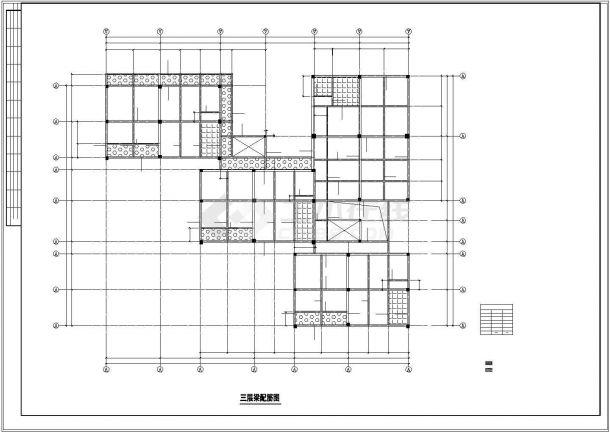 某小区幼儿园框架结构设计CAD全套图-图二
