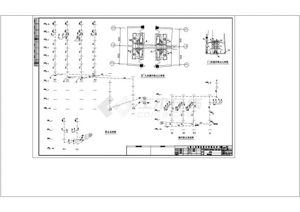 办公楼设计_某城市高层办公楼给排水设计cad施工图-图一