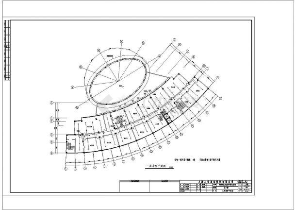 办公楼设计_某城市高层办公楼给排水设计cad施工图-图二