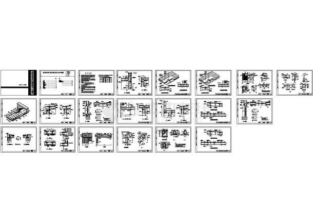 某轻型钢结构房屋建筑节点构造详图-图一
