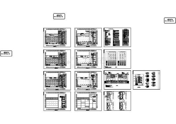 四层框架食堂高压配电系统设计图纸(CAD,13张图纸)-图一
