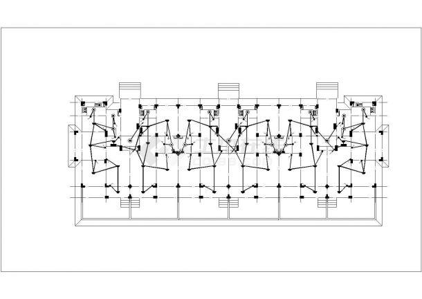 某小区7层框混结构住宅楼电气施工设计CAD图纸(含阁楼)-图二