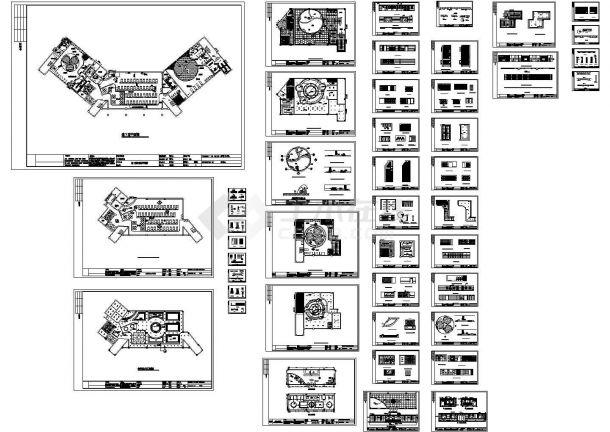 2套大型休闲浴室的施工图(绘图细致)-图二