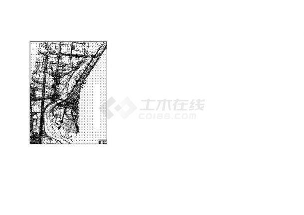 某污水处理厂外部管网设计施工cad图-图一