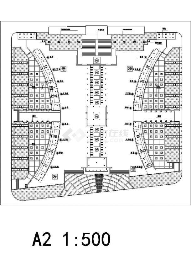 政府广场绿化规划图Cad设计图(绘图细致)-图二