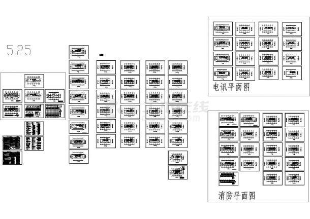 1万平方米二十一层记者办公楼电气施工cad图(含照明设计)-图一