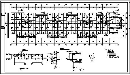 某九层钢筋混凝土框架结构住宅楼结构施工cad图纸-图一