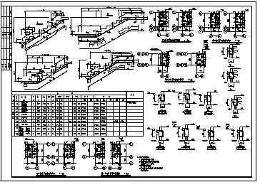 某九层钢筋混凝土框架结构住宅楼结构施工cad图纸-图二