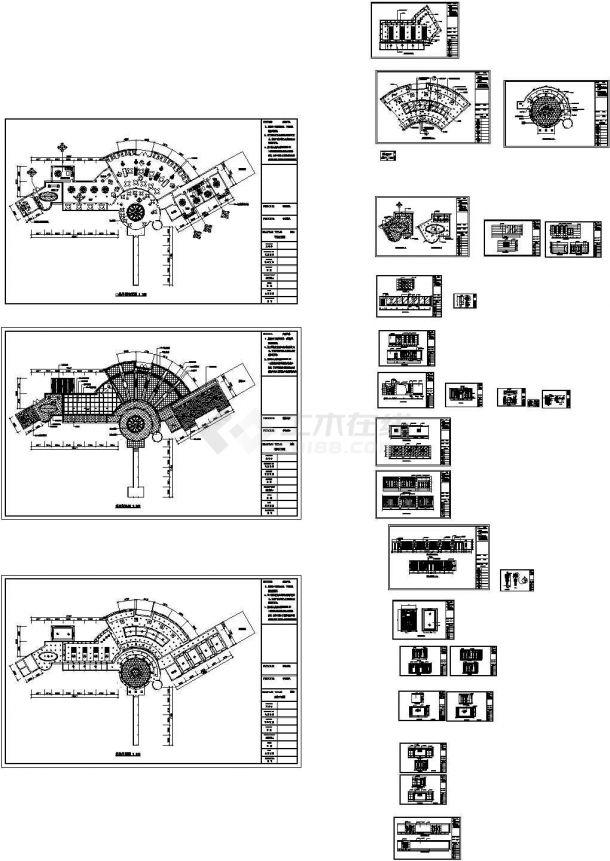 某地山庄餐厅全套装修施工设计cad图(含平面布置图,设计说明)-图一