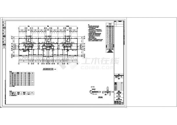 办公楼设计_某地高层办公楼剪力墙框架结构设计cad施工图纸-图一