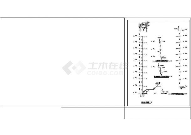 办公楼设计_某地区高层办公楼给排水详细设计cad施工图纸-图二