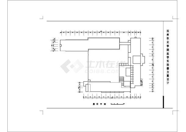 5层职业学院医院实验楼平面方案CAD图纸设计-图一