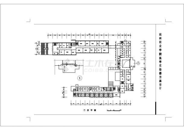 5层职业学院医院实验楼平面方案CAD图纸设计-图二