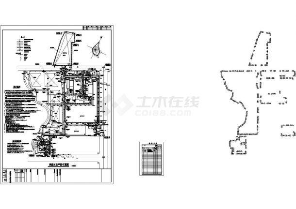 某厂区给排水管道系统总平面图(某甲级院设计)-图一
