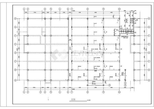 2层1820.3平米经典餐厅建筑结构施工图.cad-图一