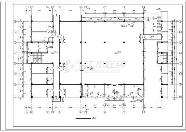 2层1820.3平米经典餐厅建筑结构施工图.cad-图二