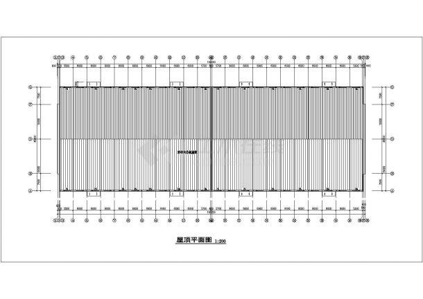 厂房设计_1层生产车间厂房建筑施工图cad-图二