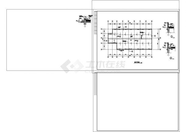 2层公司食堂建筑施工图【平立剖 楼梯 卫详 节点大样】.cad-图一