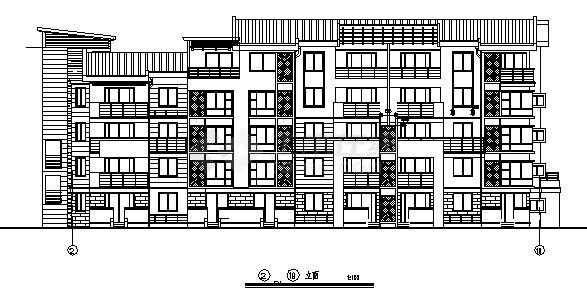 最新整理五套4000平多层经典住宅楼建筑设计图资料合集-图二