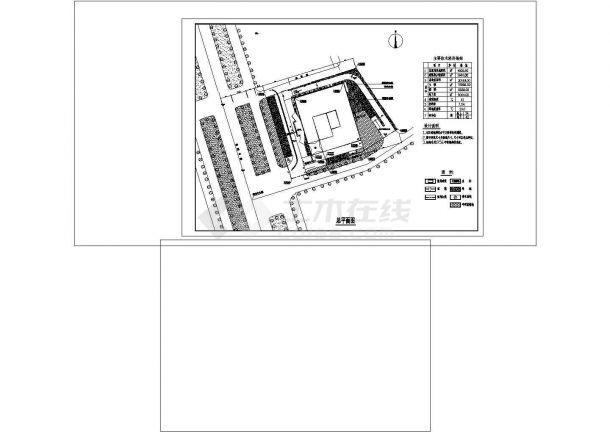-2+19层30148平米四星级酒店建筑cad图纸设计-图一