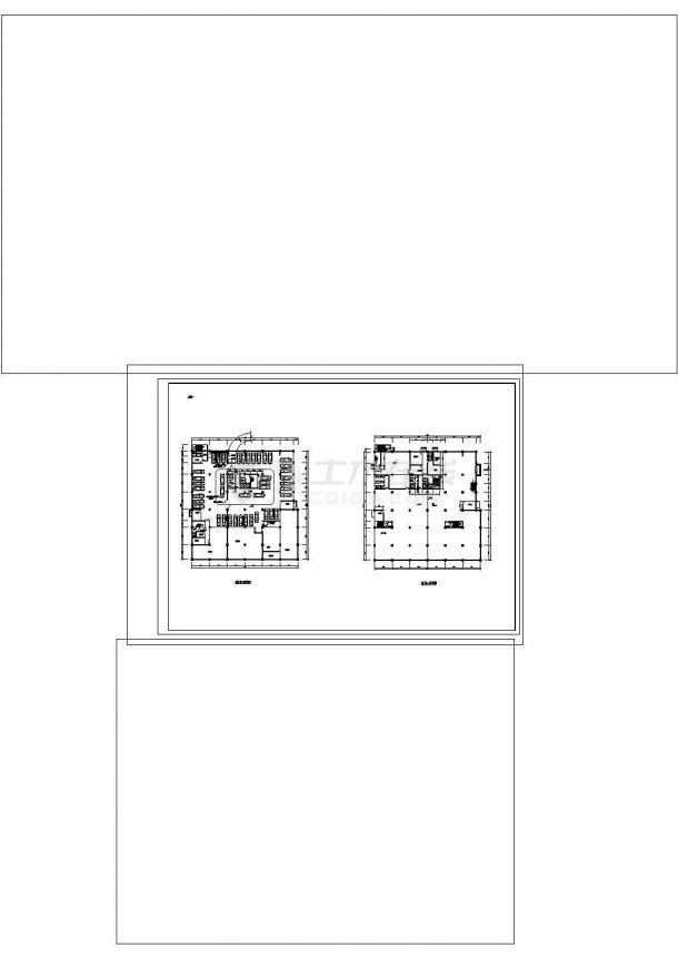 -2+19层30148平米四星级酒店建筑cad图纸设计-图二