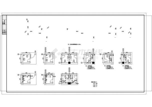 某大型综合性建筑给排水图纸(餐饮 娱乐 宾馆 同层排水)-图二