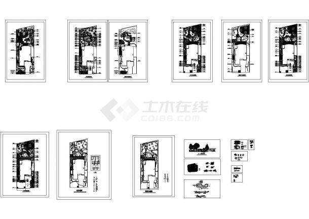 别墅庭院景观设计平面图cad版-图二