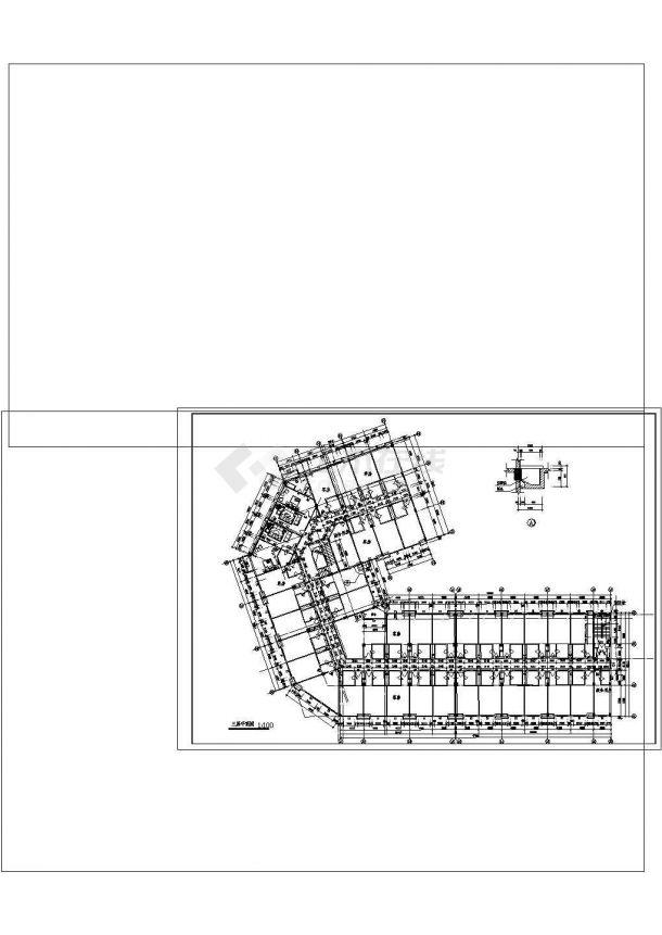 某四层酒店建筑专业cad图纸设计(含平面图,4872㎡)-图一